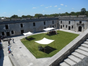 castillo courtyard